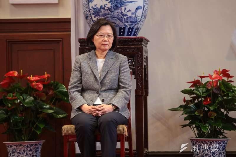 20190111-總統蔡英文11日召開記者會公布新任行政院長人選。(顏麟宇攝)