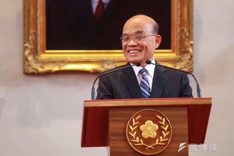 蘇貞昌接任行政院長,遭諷「輸越多官越大」。(資料照,顏麟宇攝)