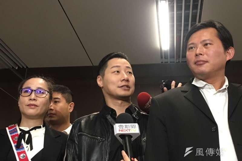 2019年1月12日,時代力量舉行黨員大會,立委黃國昌、林昶佐、高潞・以用(周思宇攝)