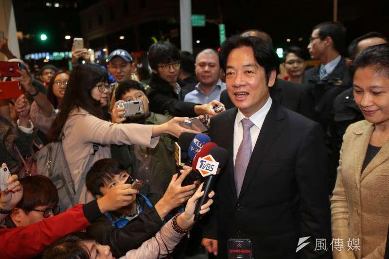 20190112-行政院長賴清德12日出席「後勁:王建民」 電影欣賞會。(顏麟宇攝)