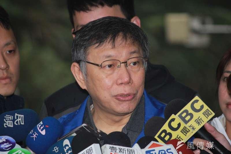 被問到與將上任的行政院長蘇貞昌的合作,台北市長柯文哲12日表示,平常心就、自然就好。(方炳超攝)