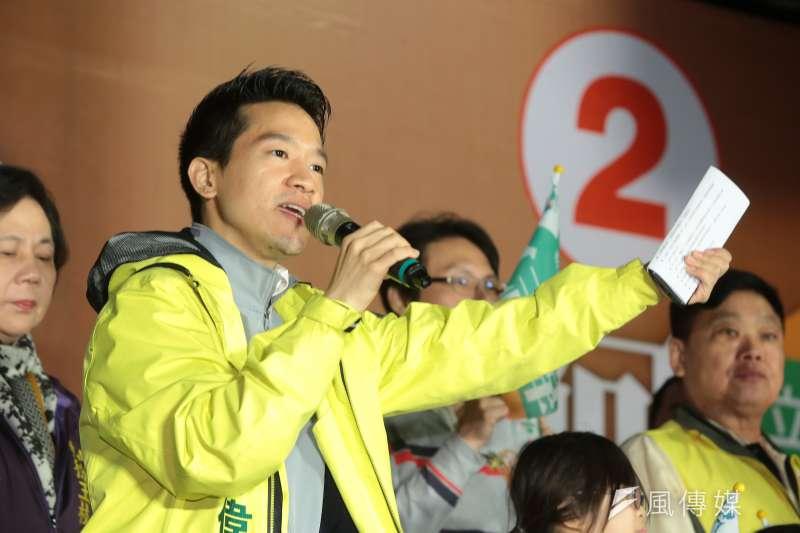 20190112-台北市第二選區立委補選候選人何志偉12日舉行「拚經濟,好生活」何志偉大同大團結之夜。(顏麟宇攝)