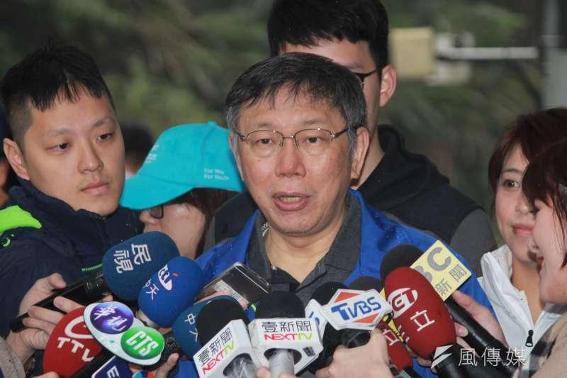 農委會日前發公文給台北市政府,要推農業金融局副局長翁震炘接任。台北市長柯文哲(見圖)16日上午受訪時表示,他對人事沒有意見,就是照程序(資料照,方炳超攝)