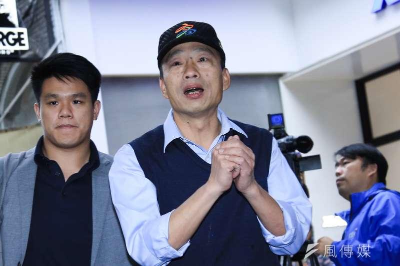 高雄市長韓國瑜今(17)日首赴議會備詢,坦言上任以來不到1個月卻像20個月,大家對自己期望很高,壓力很大。(資料照,簡必丞攝)