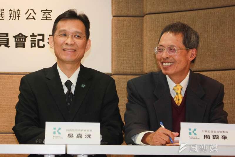 20190115-悠遊卡投資控股公司15日進行董事會改選,由吳嘉沅(左)當選新任董座。(資料照,方炳超攝)