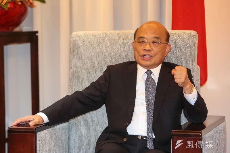 談到高雄負債,行政院長蘇貞昌說,會盡力幫忙,但得要「自助人助」。(資料照,顏麟宇攝)