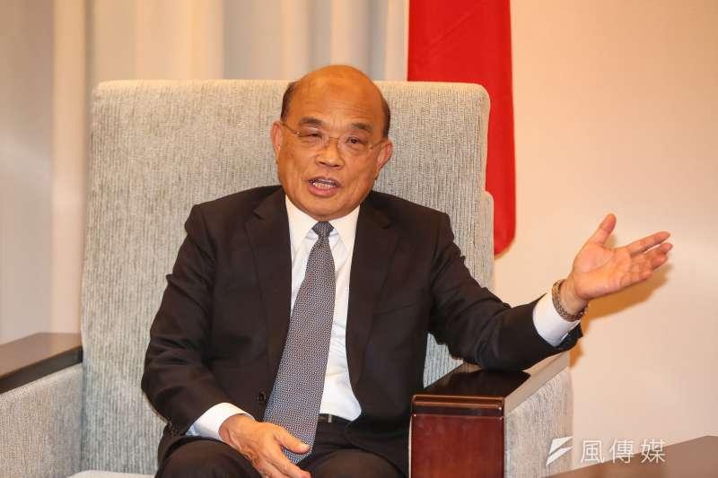 20190115-行政院長蘇貞昌15日拜會前立法院長王金平。(顏麟宇攝)