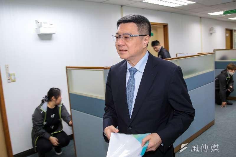 20190116-民進黨主席卓榮泰16日出席民進黨中常會。(顏麟宇攝)