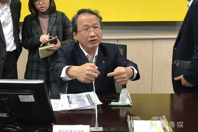農委會副主委黃金城今(31)日指出,中國非洲豬瘟的疫情尚未達到高峰,大概還要持續觀察到5、6月,才能初步判讀疫情。(資料照,廖羿雯攝)
