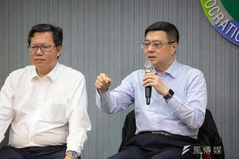 20190116-民進黨主席卓榮泰16日於中常會後與媒體座談。(顏麟宇攝)