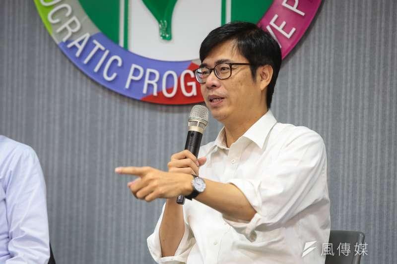 20190116-行政院副院長陳其邁16日於中常會後與媒體座談。(顏麟宇攝)
