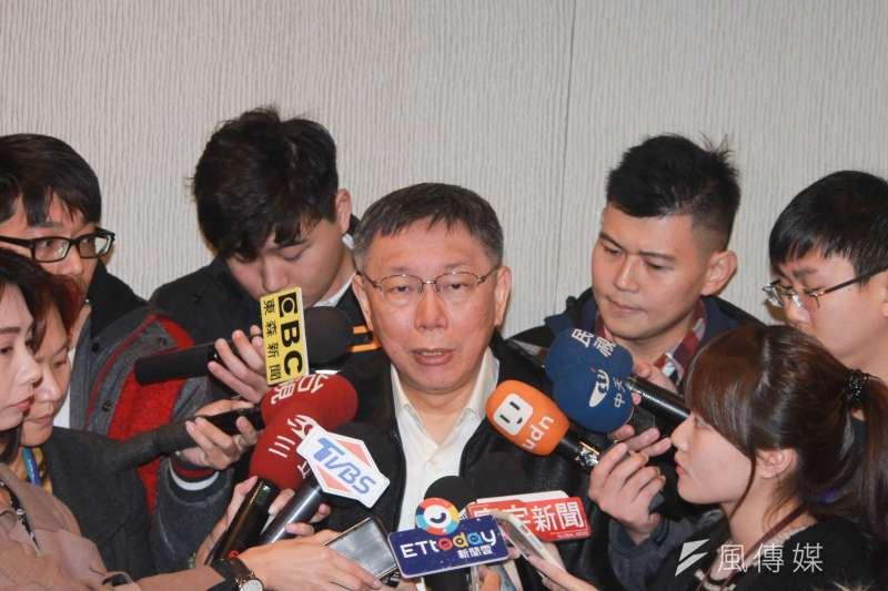 台北市長柯文哲17日上午出席北市觀光傳播局舉辦的都會旅宿發展國際論壇。(方炳超攝)