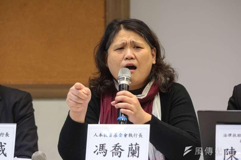 人本執行長馮喬蘭表示,過去一年已知的幼兒園虐童案件至少就18起。(顏麟宇攝)
