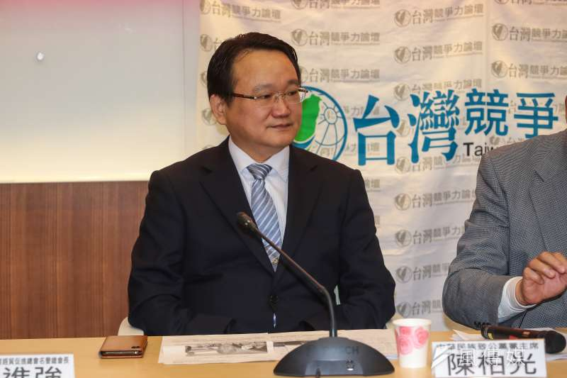 20190117-中華致公黨主席陳柏光17日出席「兩岸關係九二共識」民意調查記者會。(顏麟宇攝)