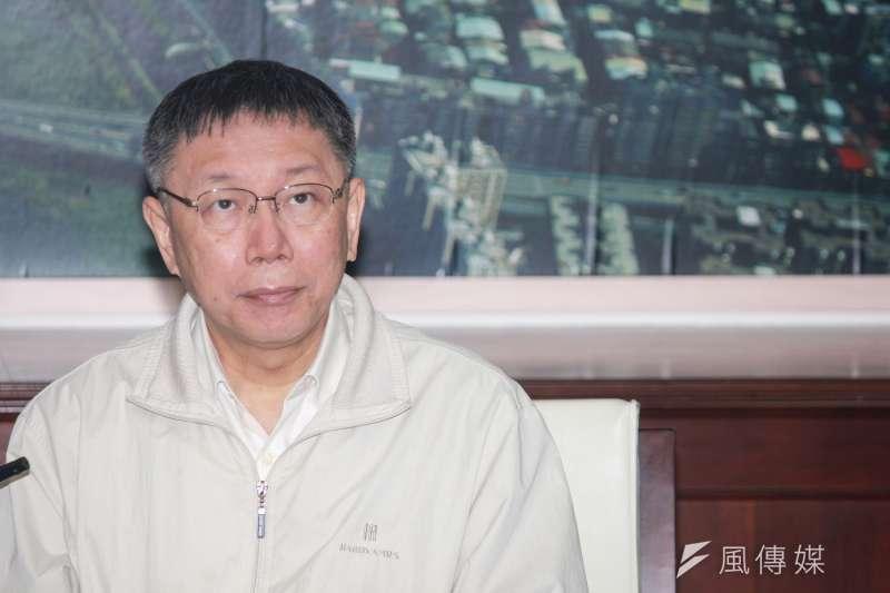 台北市長柯文哲表示,因市政還是有連續性,這次6個縣市長沒有連任,對台灣民主傷害很大。(資料照,方炳超攝)