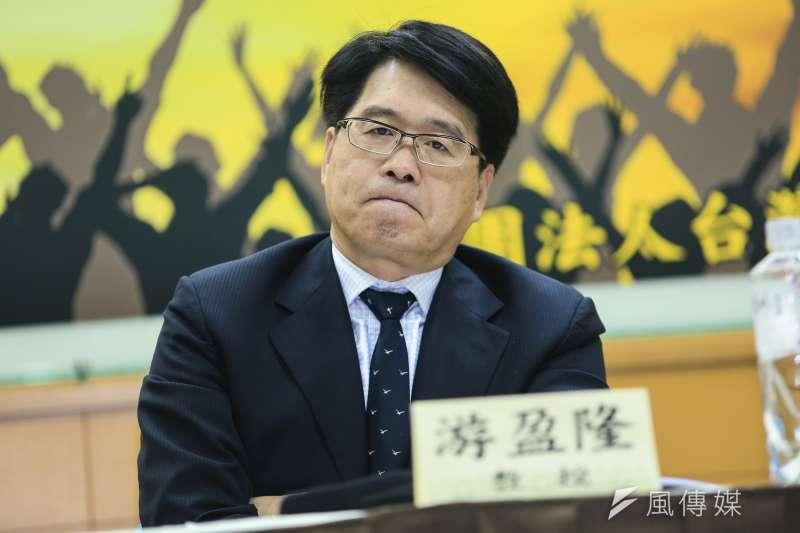 台灣民意基金會董事長游盈隆說,民進黨若未來在野,要因應重大危機,才發現公投武器早就被自己沒收焚燬了,豈不後悔莫及。(資料照,簡必丞攝)