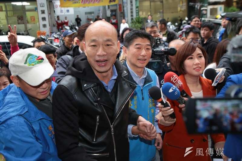高雄市長韓國瑜聽聞中央將以國家隊(Team Taiwan)概念成立「農產品外銷平台」,怒批兩年前成立的台灣農業國際開發公司至今沒有作為。(顏麟宇攝)