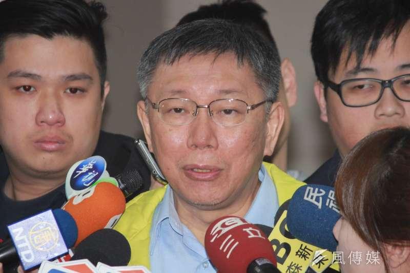 台北市長柯文哲(見圖)昨專訪談與王世堅失和內幕。(資料照,方炳超攝)