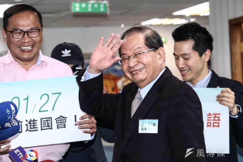 20190123-民進黨中常委陳勝宏出席民進黨中常會。(蔡親傑攝)