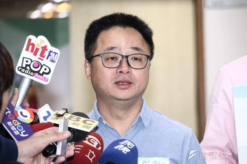 民進黨秘書長羅文嘉說,華航機師罷工風波,社會最關心是疲勞飛行。(資料照,蔡親傑攝)