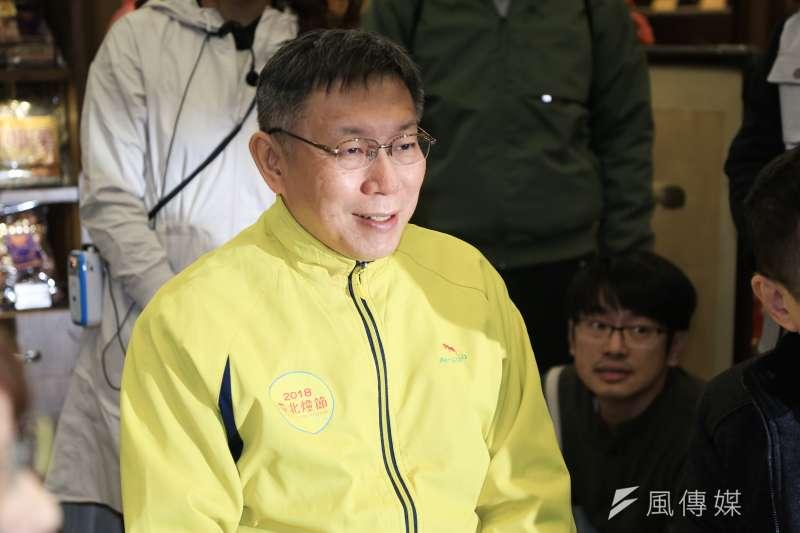 TVBS最新民調,2020總統大選無論藍綠由誰出馬,無黨籍台北市長柯文哲支持度暫居第一。(簡必丞攝)