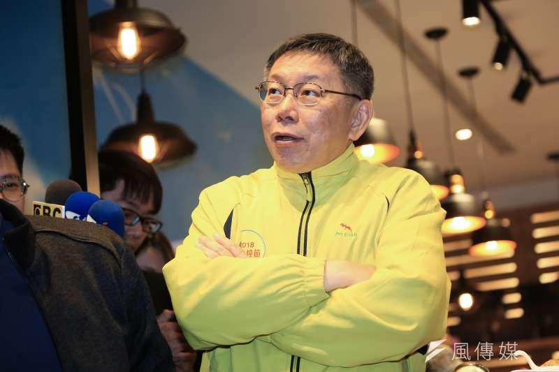 20190123-台北市長柯文哲至迪化街掃街。(簡必丞攝)