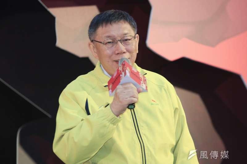台北市長柯文哲就任四周年,施政滿意度為58.6%,不滿意度為31.5%。(資料照,簡必丞攝)