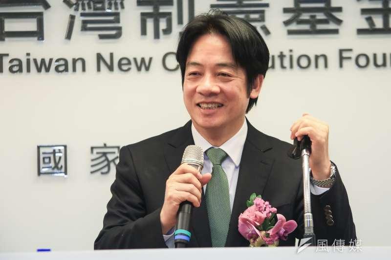 20190123-前行政院長賴清德23日出席台灣制憲基金會開幕式。(簡必丞攝)