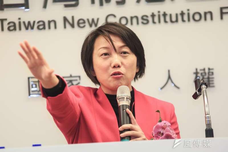20190123-社民黨召集人范雲23日出席台灣制憲基金會開幕式。(簡必丞攝)
