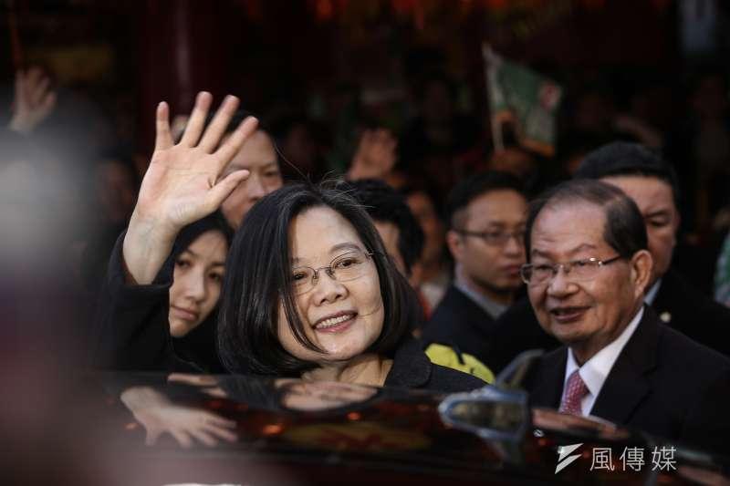 中國國家主席習近平《告台灣同胞書》讓蔡英文聲望逆勢回升十個百分點。(陳品佑攝)