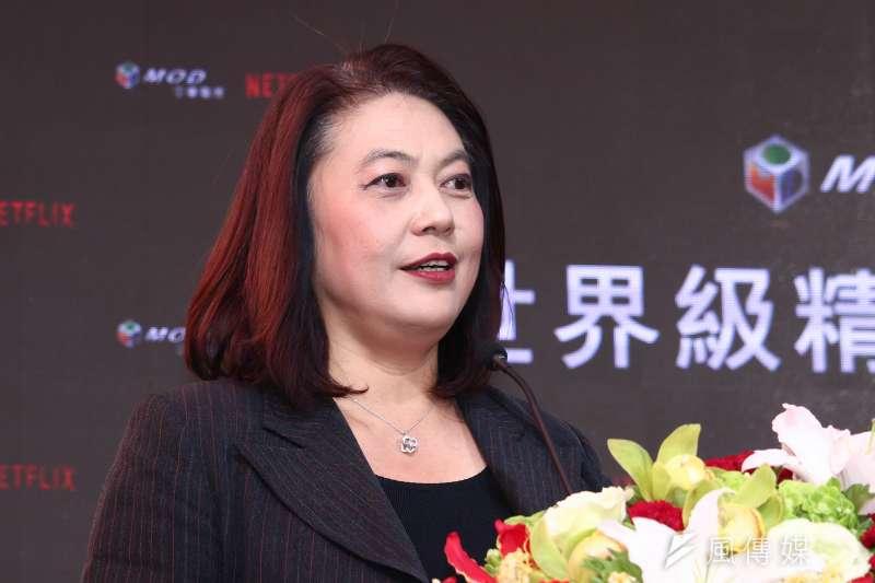 20190125-NCC主任委員詹婷怡出席中華電信MOD與Netflix簽約記者會。(蔡親傑攝)