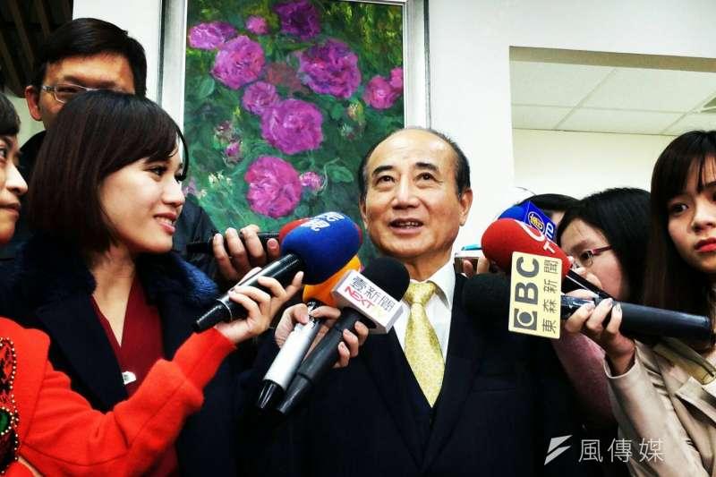 前立法院長王金平25日接受媒體訪問。(周怡孜攝)
