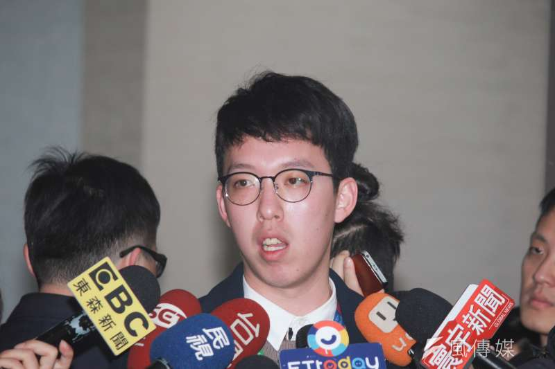台北市府副發言人柯昱安。(方炳超攝).jpg
