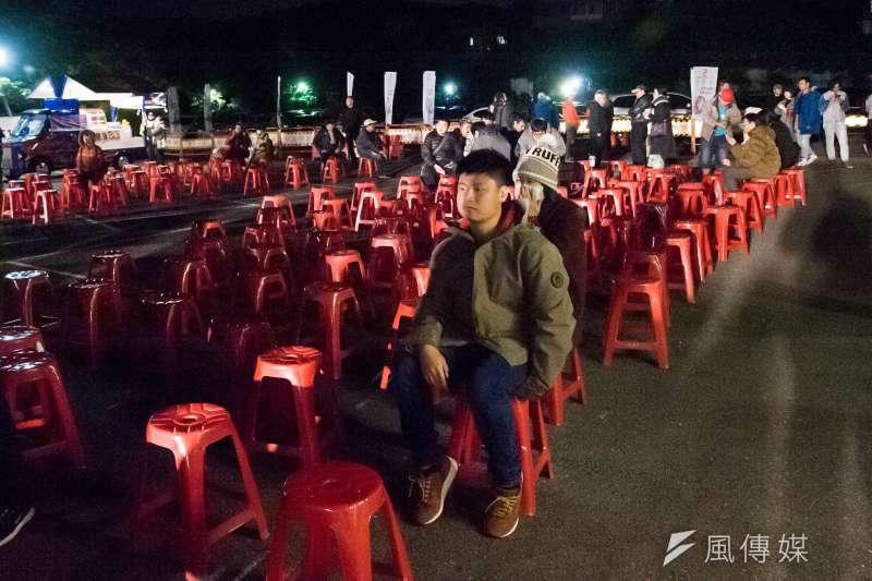 20190126-陳思宇選前之夜,活動開始後仍有許多空位。(甘岱民攝)