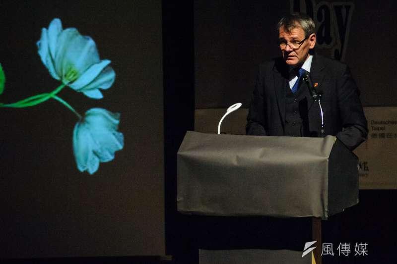 20190127-2019國際大屠殺紀念日,德國駐台代表王子陶。(甘岱民攝)
