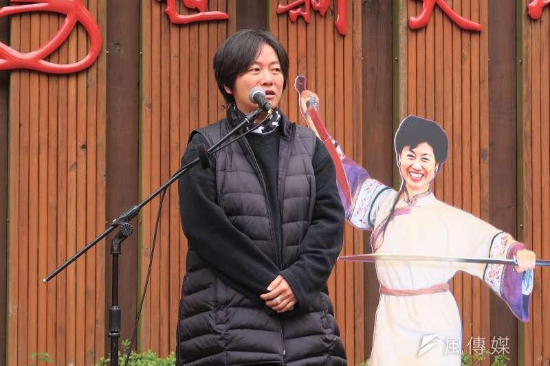 20190127-世新社發所為社會學家成露茜舉辦追思會。圖為台灣國際勞工協會(TIWA)成員吳靜如。(朱冠諭攝)