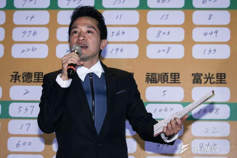 何志偉參與立委補選獲得勝選,令人意外的是他當選感言竟把對手陳思宇和台北市長柯文哲臭駡一頓。(蔡親傑攝)