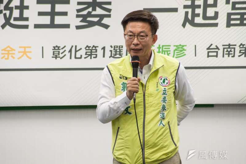 台南第二選區立委補選,民進黨提名的郭國文陷入苦戰。(資料照,甘岱民攝)