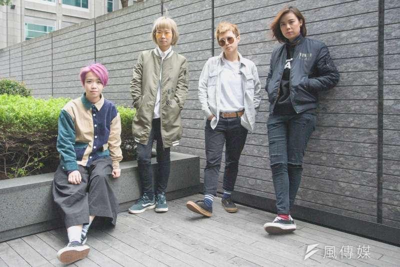 20190126-香港樂團「雞肉蒸蛋餅」專訪。(甘岱民攝)