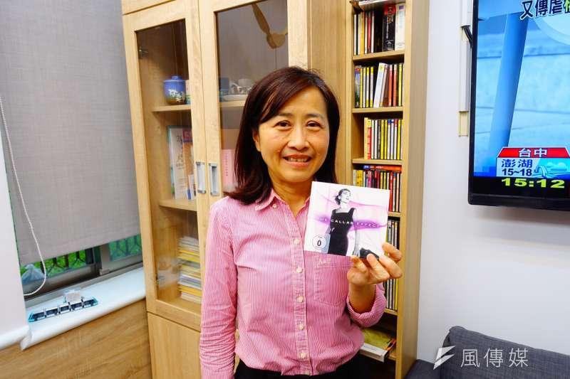 國民黨立委林奕華受訪時提到,「音樂」是她人生最好的朋友。(羅暐智攝)