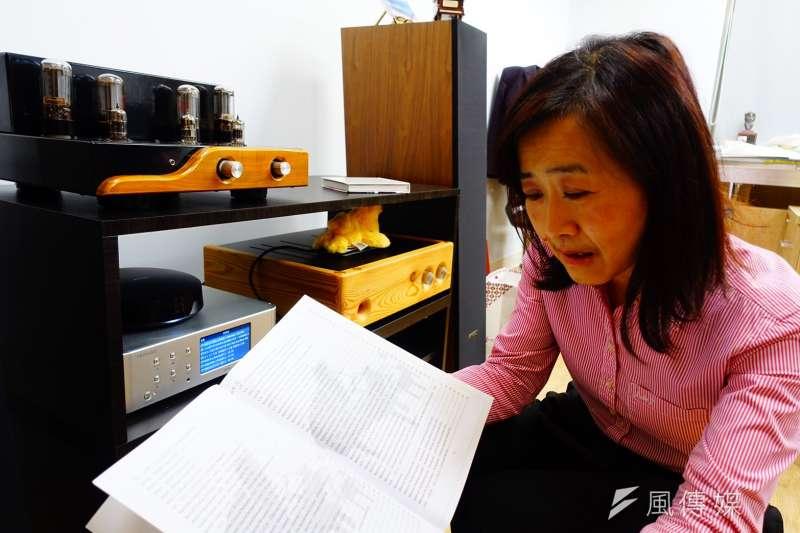 20190129-國民黨立委林奕華受訪時提到,「音樂」是她人生最好的朋友。(羅暐智攝)