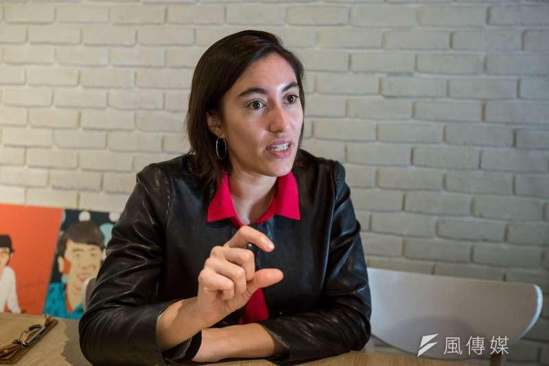 法國國會議員佛蒂薩(Paula Forteza)專訪。(顏麟宇攝)