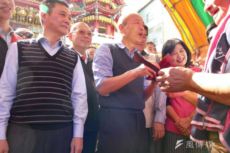高雄市長韓國瑜是台灣二十年來唯一能避開統獨的造局者。(圖/徐炳文攝)