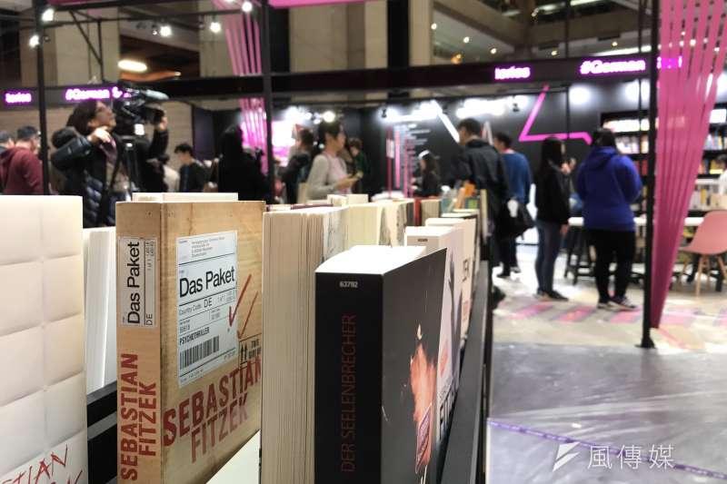 台北國際書展,將於明(12)日在台北世貿登場,圖為德國主題館。(吳尚軒攝)