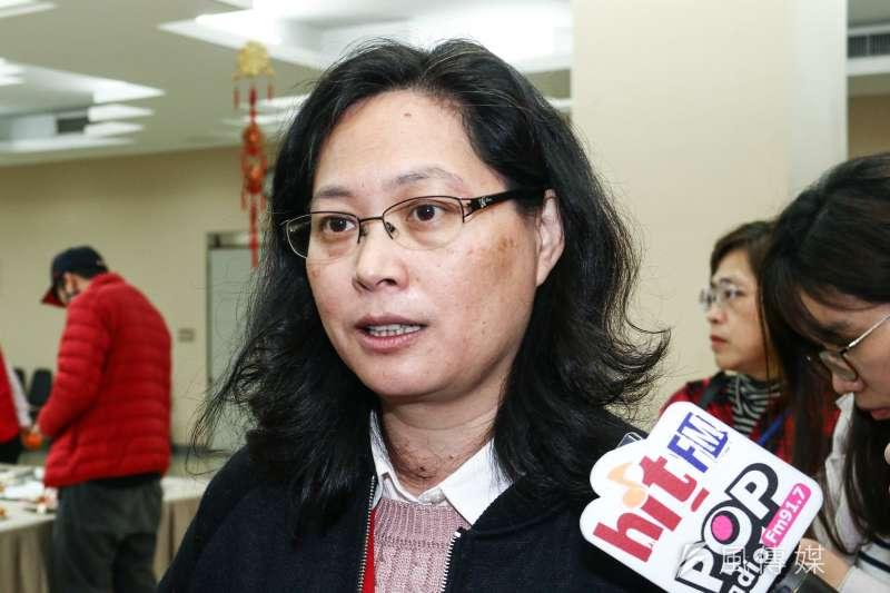 台北市勞動局局長賴香伶11日出席台北市議會新春團拜,並會後訪問談及華航罷工事件。(蔡親傑攝)