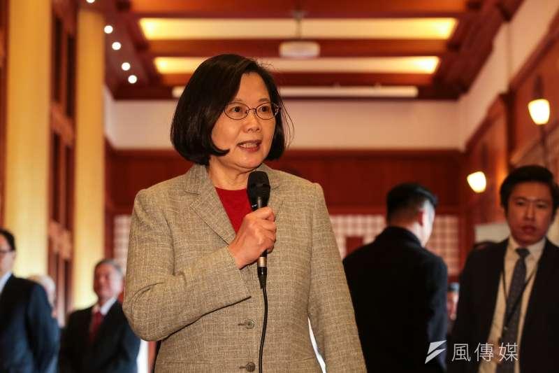 總統蔡英文出席「2019大陸台商春節聯誼活動」,並發表談話。(顏麟宇攝)