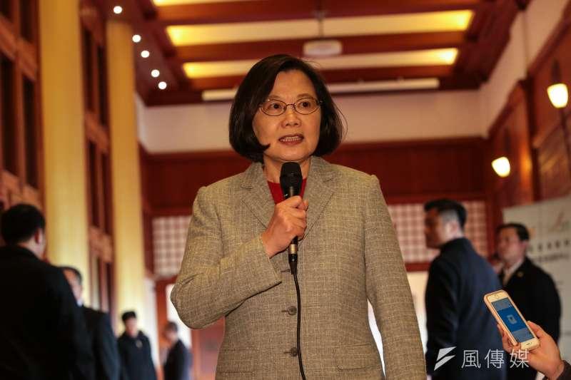 20190211-總統蔡英文11日出席「2019大陸台商春節聯誼活動」,並發表談話。(顏麟宇攝)