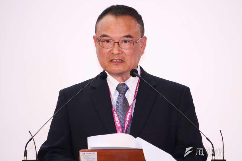 20190212-文化部次長蕭宗煌出席「第27屆台北國際書展開幕暨頒獎典禮」。(蔡親傑攝)
