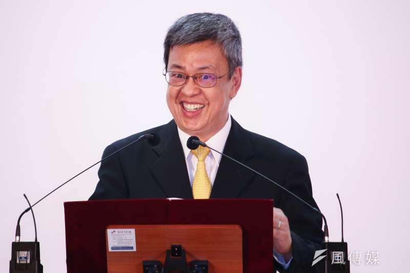 副總統陳建仁23日出席「第九屆海內外台灣國是會議」,強力替總統蔡英文爭取連任支持。(資料照,蔡親傑攝)