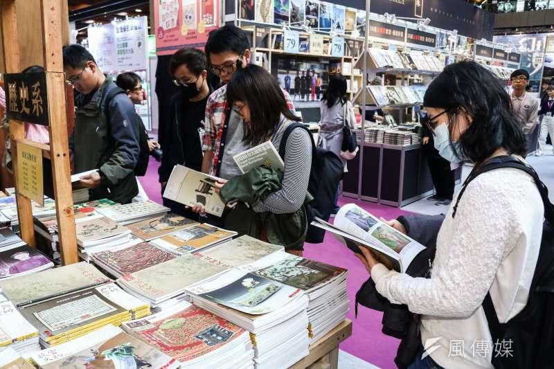 20190212-「第27屆台北國際書展」看書的人潮。(蔡親傑攝)
